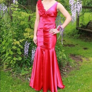Pink Cache size zero prom or formal dress